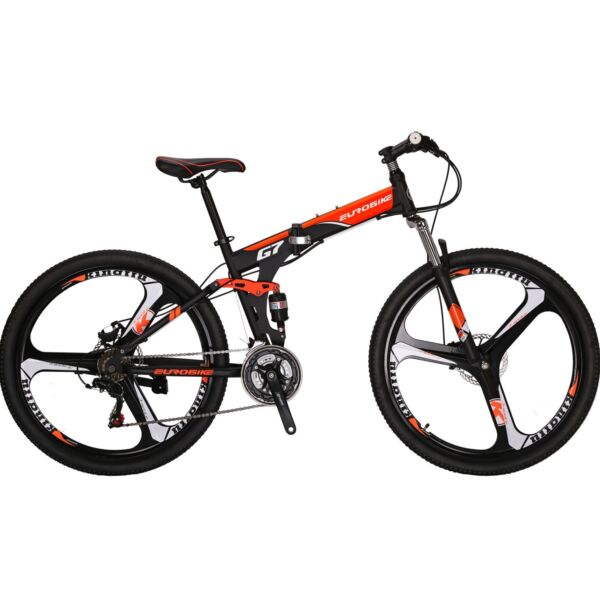 Folding Mountain Bike 27.5 inches wheels full suspension 21 Speed mens Bicycle L $339.50
