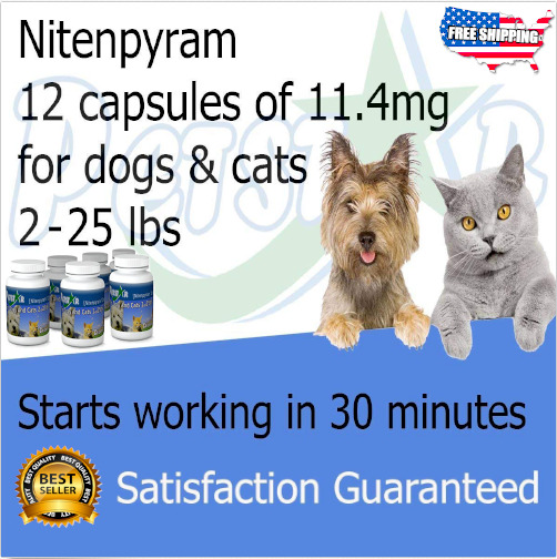 Oral Flea Tick Tablets for Dogs Cats Treatment Control Pills Quick  2 to 25 LB