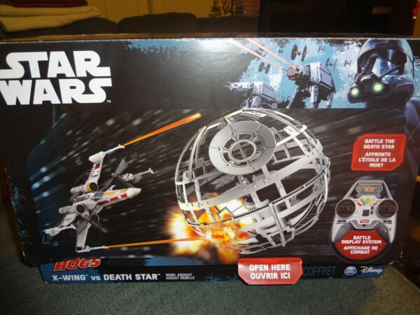 SPIN MASTER STAR WARS AIR HOGS RC X-WING vs DEATH STAR - NEW SEALED