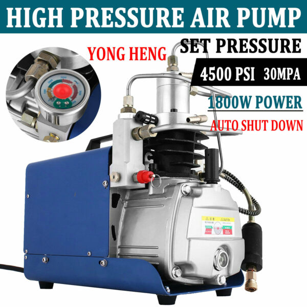 YONG HENG 30MPa Air Compressor Pump PCP Electric 4500PSI High Pressure Auto Shut
