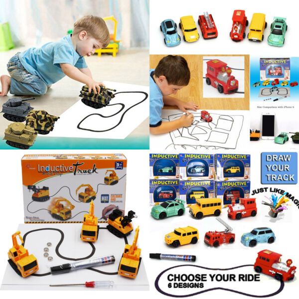 Magic Pen Inductive Car Tank Truck Toy Automatic Follow-Line You Draw Toys Gifts