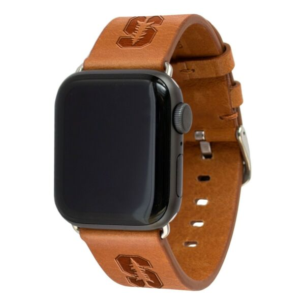 Stanford Cardinal Premium Leather Band Compatible With the Apple Watch