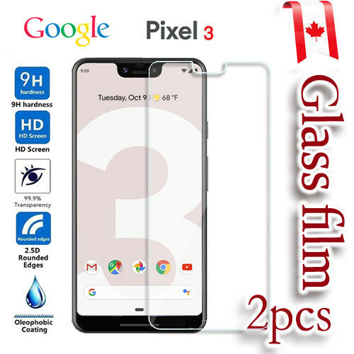 2x For Google Pixel 3 Tempered Glass Pet LCD Screen Protector Film Guard C $3.49