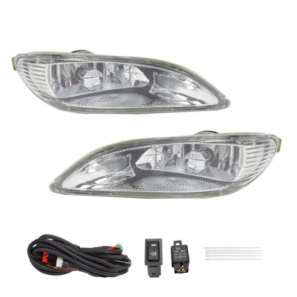 Bumper Fog Lights+Switch+Wiring For 2002-2004 Toyota Camry2005-2008 Corolla