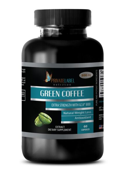 Green Coffee Bean Extract GCA 800 - Fat Burner Pills - Lean Body Mass 60 Pills