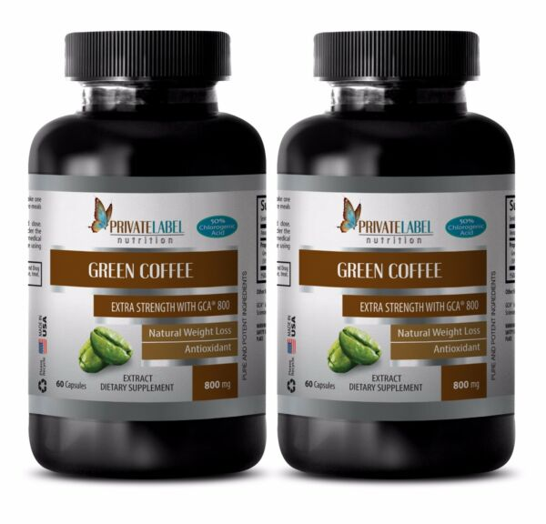 Green Coffee Bean Extract wGCA 800 - Slimming Pills - Fat Burner - 2B