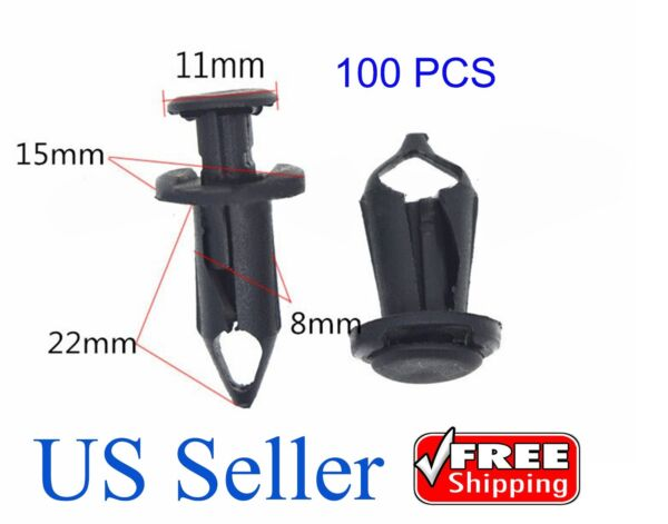 100x Fender ATV Clips Fasteners Push Retainer for Honda Suzuki Kawasaki Polaris