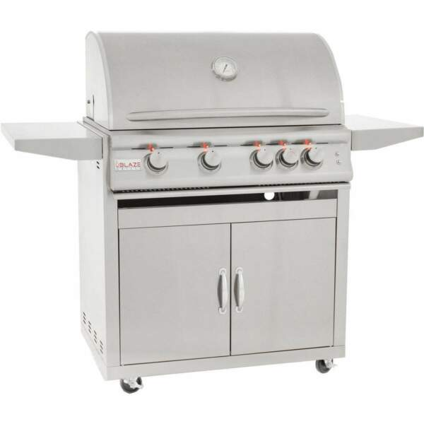 Blaze Marine Grade Stainless Steel Freestanding Propane Gas Grill with Lights 3
