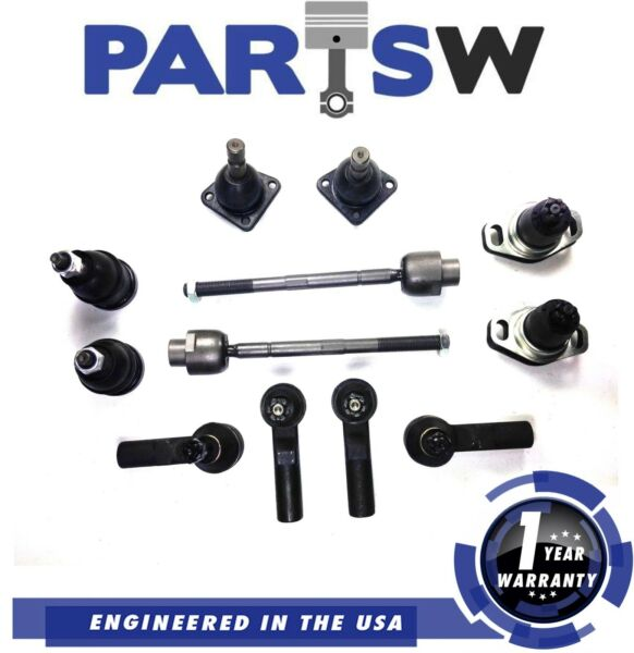12Pc Kit Front Rear Upper Lower Ball Joint Tie Rod For Pontac Fiero 1Yr Warranty