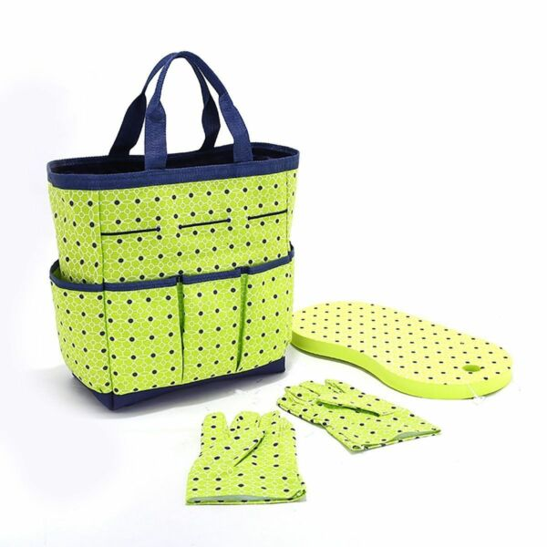 No Tools Gardeners' Delight 3 Pc. Gardening Tote Bag Set In Lime