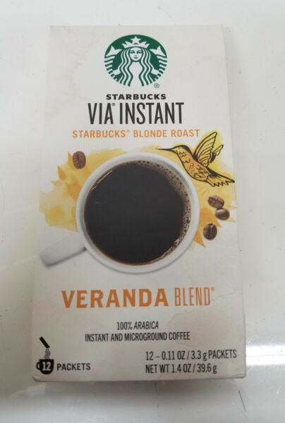 Starbucks VIA INSTANT Blonde Roast coffee Veranda 20 boxes- 240 packets🔥 NEW!