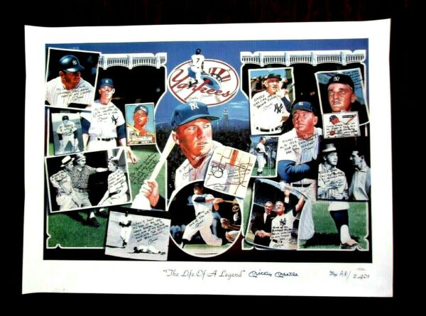 SPORTS IMPRESSIONS MICKEY MANTLE SIGNED LITHOGRAPH