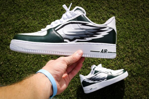 Custom Philadelphia Eagles Nike Air Force One Shoes