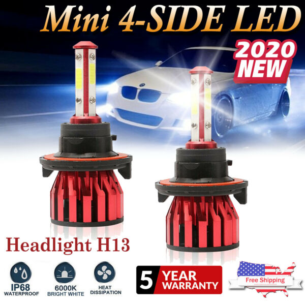 H13 LED Headlight Bulbs Kit for Dodge Ram 1500 2500 3500 2006-2011 High Low Beam