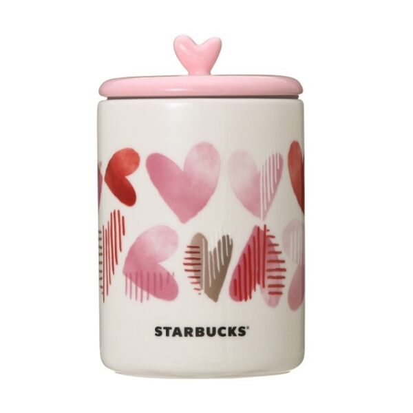 Starbucks coffee Heart Canister Japan Valentine's day Limited Valentine JP