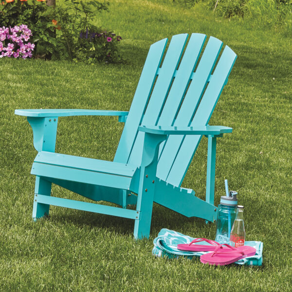Classic Painted Wood Outdoor Backyard Lawn Furniture Adirondack Chair Turquoise