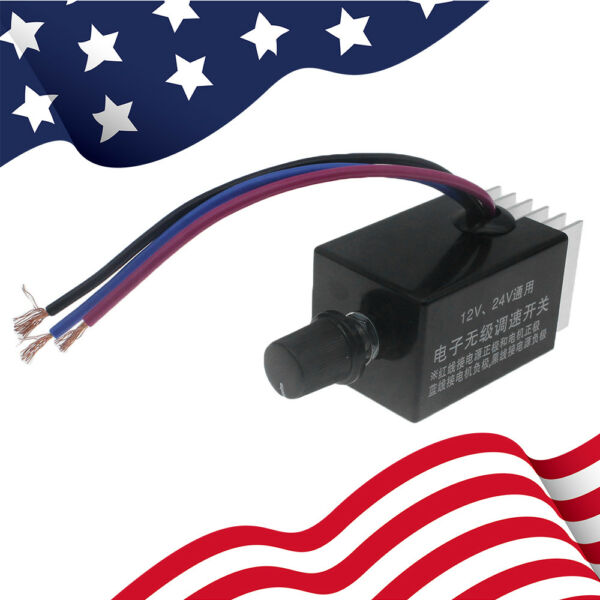 Useful Motor Speed Controller Control Switch 12V For Car Truck Fan Defroster Hot