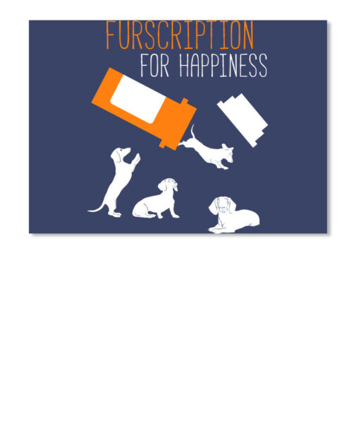 Dachshund Sausage Dog Dogs Furscription For Happiness Sticker Landscape $8.25
