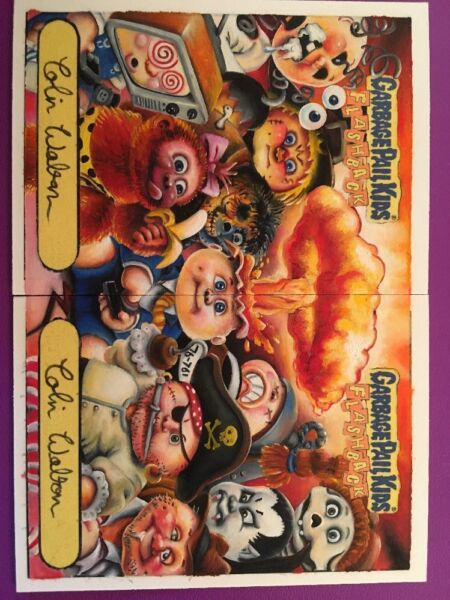 Garbage Pail Kids Adam Bomb And Friends Flashback Return Sketch Colin Walton