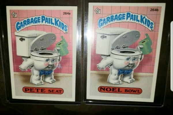 *AUTHENTIC* 1987 GARBAGE PAIL KID CARDS #264ab PETE SeatNOEL Bowl. MINT COND!