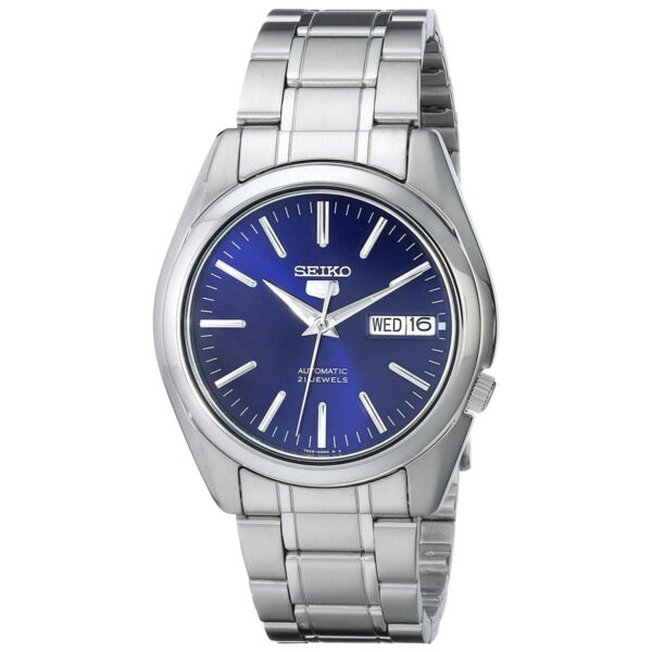 Seiko 5 SNKL43 Automatic Day-Date Blue Dial Stainless Steel Men's Watch SNKL43K1