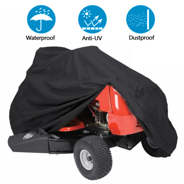Lawn Mower Tractor Cover UV Resistant Waterproof Garden Outside Yard Riding