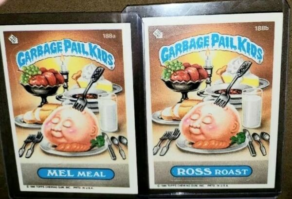 ~MINT CARDS~ 1986 Garbage Pail Kid Cards  #188ab MEL MealROSS Roast ~AUTHENTIC