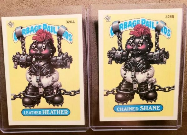 *AUTHENTIC* 1987 Garbage Pail Kid Cards #326AB  Leather HEATHERChained SHANE