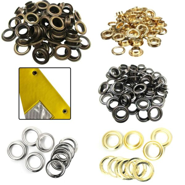 12mm - 20mm Brass Rust Proof Eyelets with Washers for Banners Making Yoga Mats