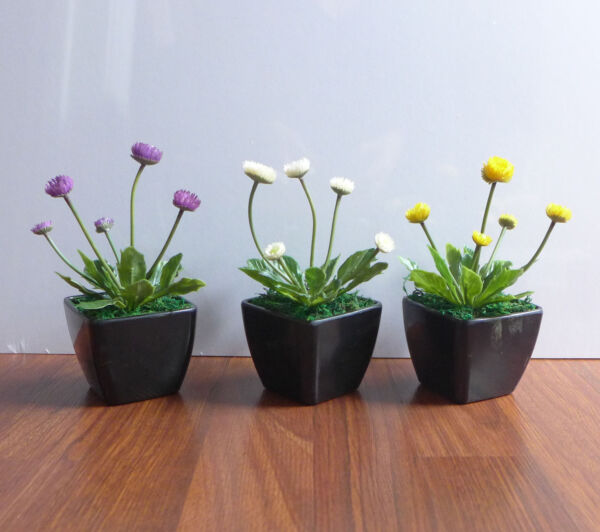 3 Colors Artificial Plant Small Flower Potted Grass