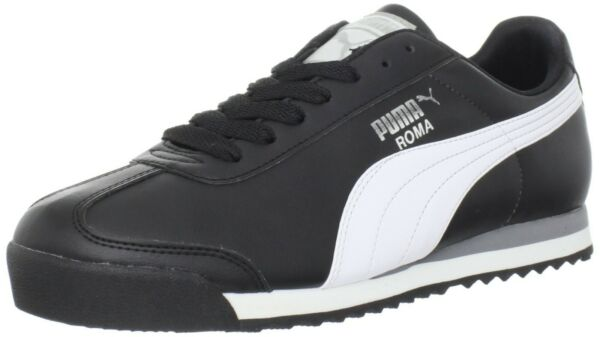 Puma Roma Basic Classic 35357211 Black White Casual Fashion Mens Shoes Sizes