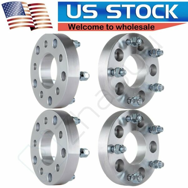 4pcs 1.25quot; Wheel Spacers 5x5 to 5x5.5 Wheels 1 2quot; Studs Adapter For GMC $89.17