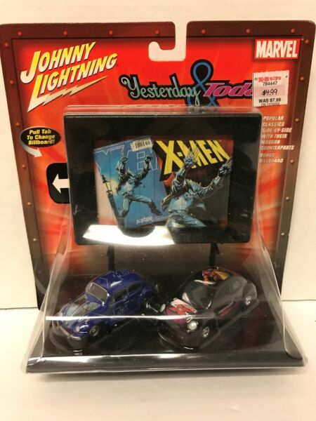 Johnny Lightning Marvel X-Men Yesterday& Today VW Volkswagen Beetle Bug483-40