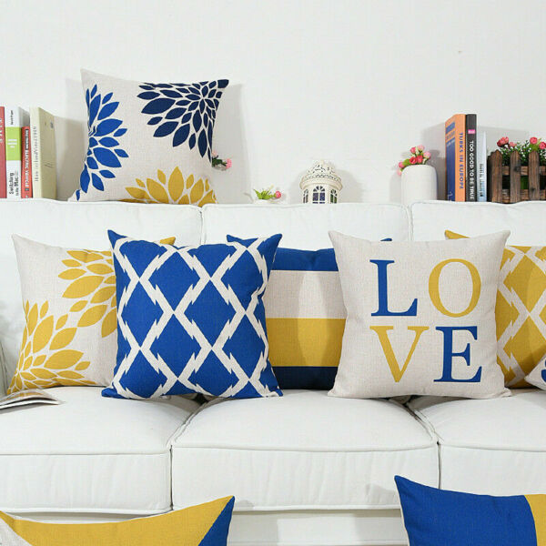 Printing Home Geometry Linen Cover Case Cotton Office Decor Cushion Pillow Car $2.96