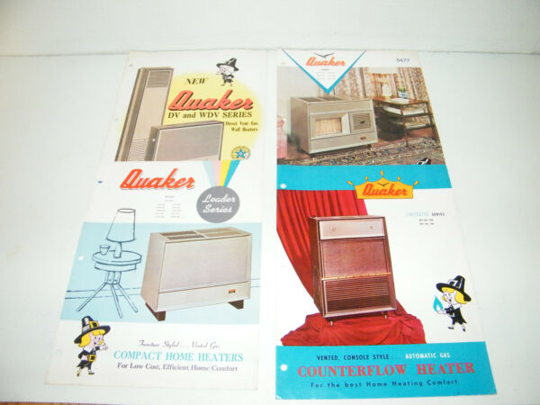 Quaker Gas Home Heater Sales Brochure 60s Heil Quaker Nashville Tennessee $14.95