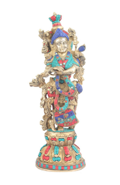 Large Size Brass Hindu Goddess Radha Idol Home Décor Statue For Sale 21