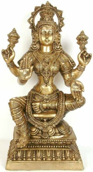 Large Size Indian Brass Hindu Goddess Maa Laxmi Idol For Diwali Gifting 29