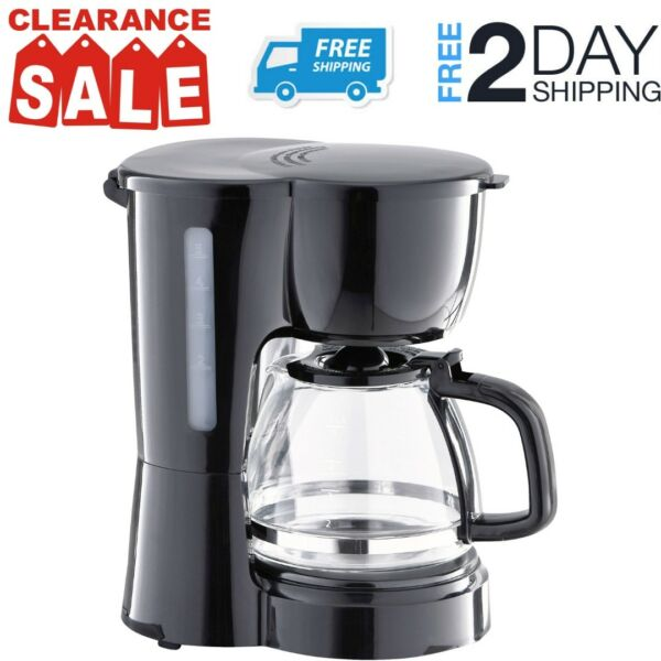 Small Coffee Maker With Pot Electric Countertop Machine For Home Rv Office