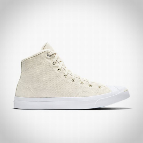 Converse Jack Purcell Mid Casual Canvas Shoes 159670C Driftwood Beige White