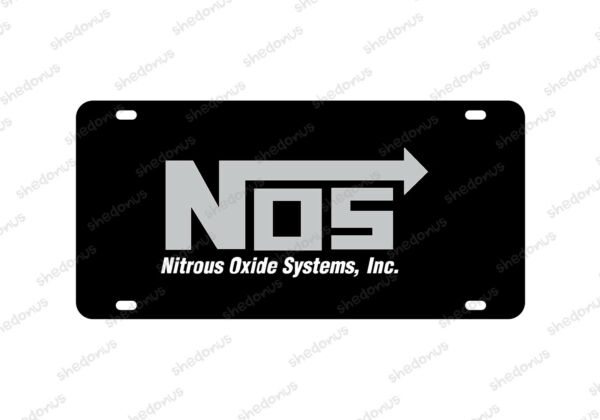 NOS Car License Plate Nitrous Oxide Systems Motorsport Car Racing Man Cave