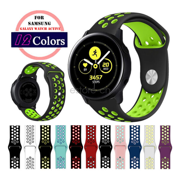 Replacement Silicone Sport Watch Band Strap For Samsung Galaxy Watch Active  2