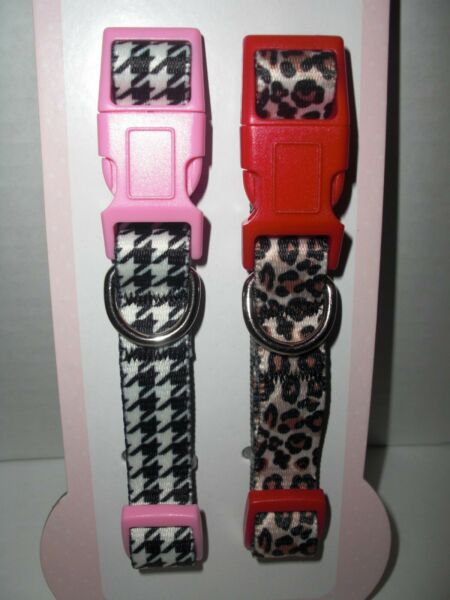 SMOOCHIE POOCH Dog COLLAR Set XS Small Pink Red  (NWT**CUTE**LK)