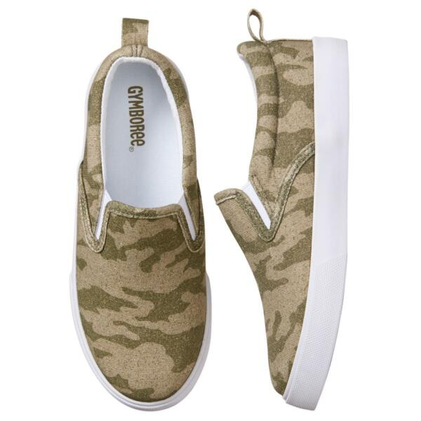 NWT Gymboree Boy Sneakers Shoes Camo Slip on Kid and toddler sizes $16.87