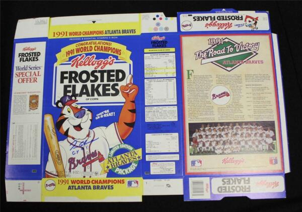 Tom Glavine CY 91 Signed Frosted Flakes Cereal Box LE Atlanta Braves