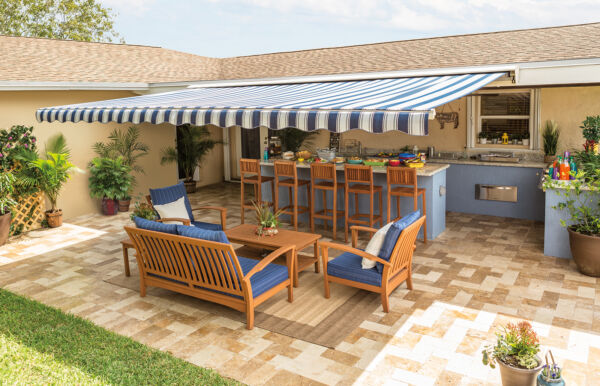 20 ft.  SunSetter Motorized XL Retractable Awning - Outdoor Shade Deck or Patio