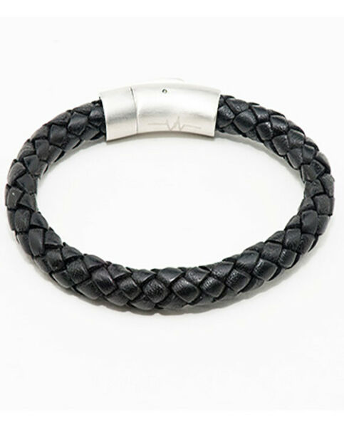 Bionic 8MM Black Woven Leather True Frequency PAIN-RELIEF Bracelet  7
