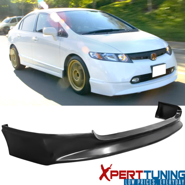 Fits 2006 2007 2008 Honda Civic 4Dr PU Mugen Style Front Bumper Lip Spoiler