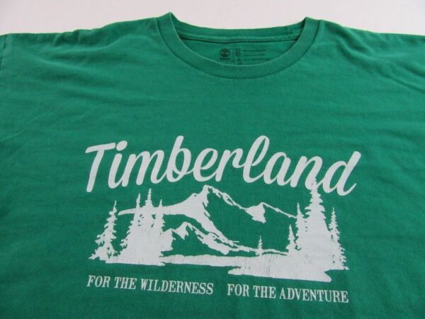 Retro Style TIMBERLAND quot;For The Wilderness For The Adventurequot; T Shirt Size XL $21.99