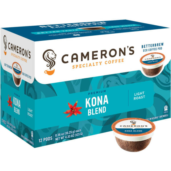 7 count Cameron's Specialty Coffee Kona Blend Single Serve Pods 12 count