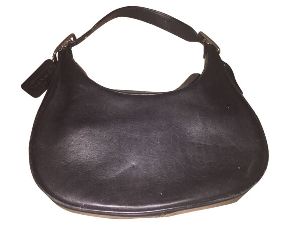 COACH BLACK LEATHER BUCKLE SMALL BAG Preowned $20.00